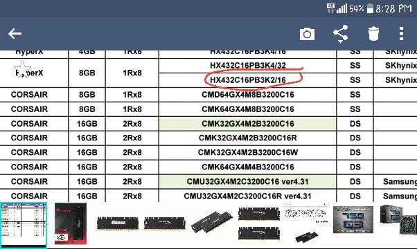 Memoria para Placa Madre Gigabyte AX370-Gaming 5