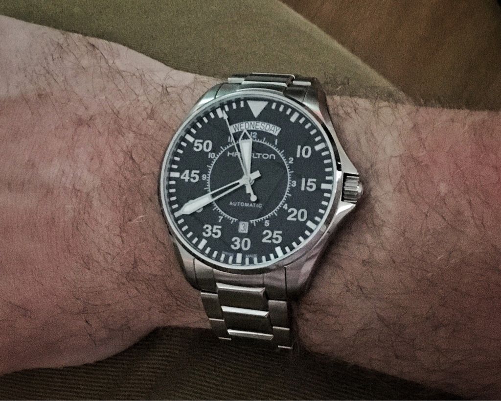 Finally got it in! It is not too big at all. It s not a  small  watch but  not ridiculous. Great tool aesthetic with some great high end details when  it ... f477fa2daac2