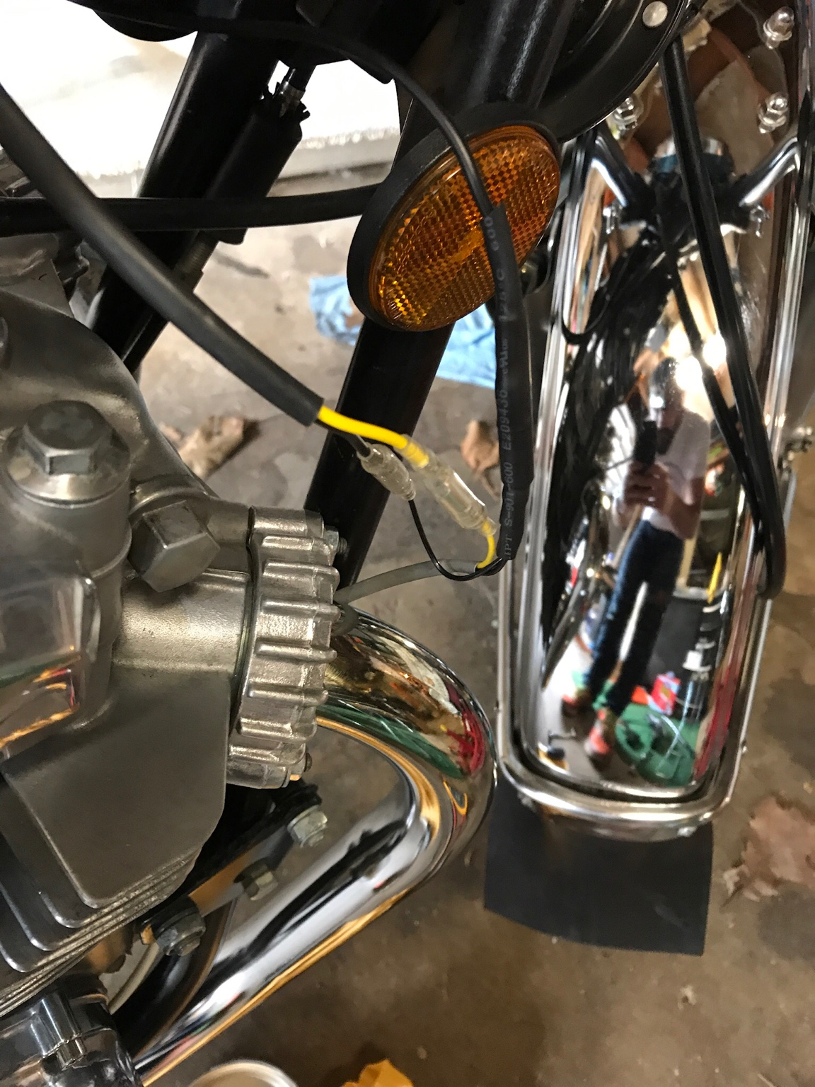 Charlies Place Ignition On Kz400 Full Write Up Kz440 Wiring Harness Make With The Is To Extend Black Male About 8 10 Reach Yellow Wire I Assume If Youve Gotten This Far You