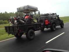 Camp trailer with mx bike carrier? | Expedition Portal
