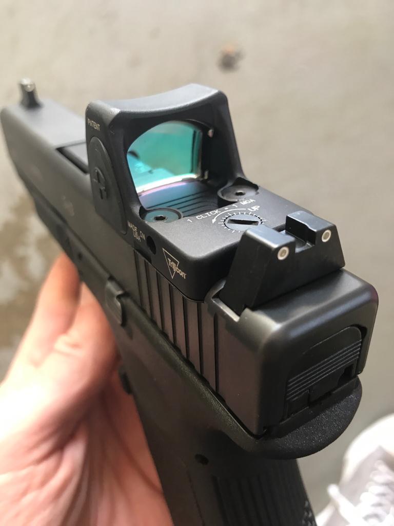 Gen 3 Glock 19 slide with RMR06 and Trijicon suppressor