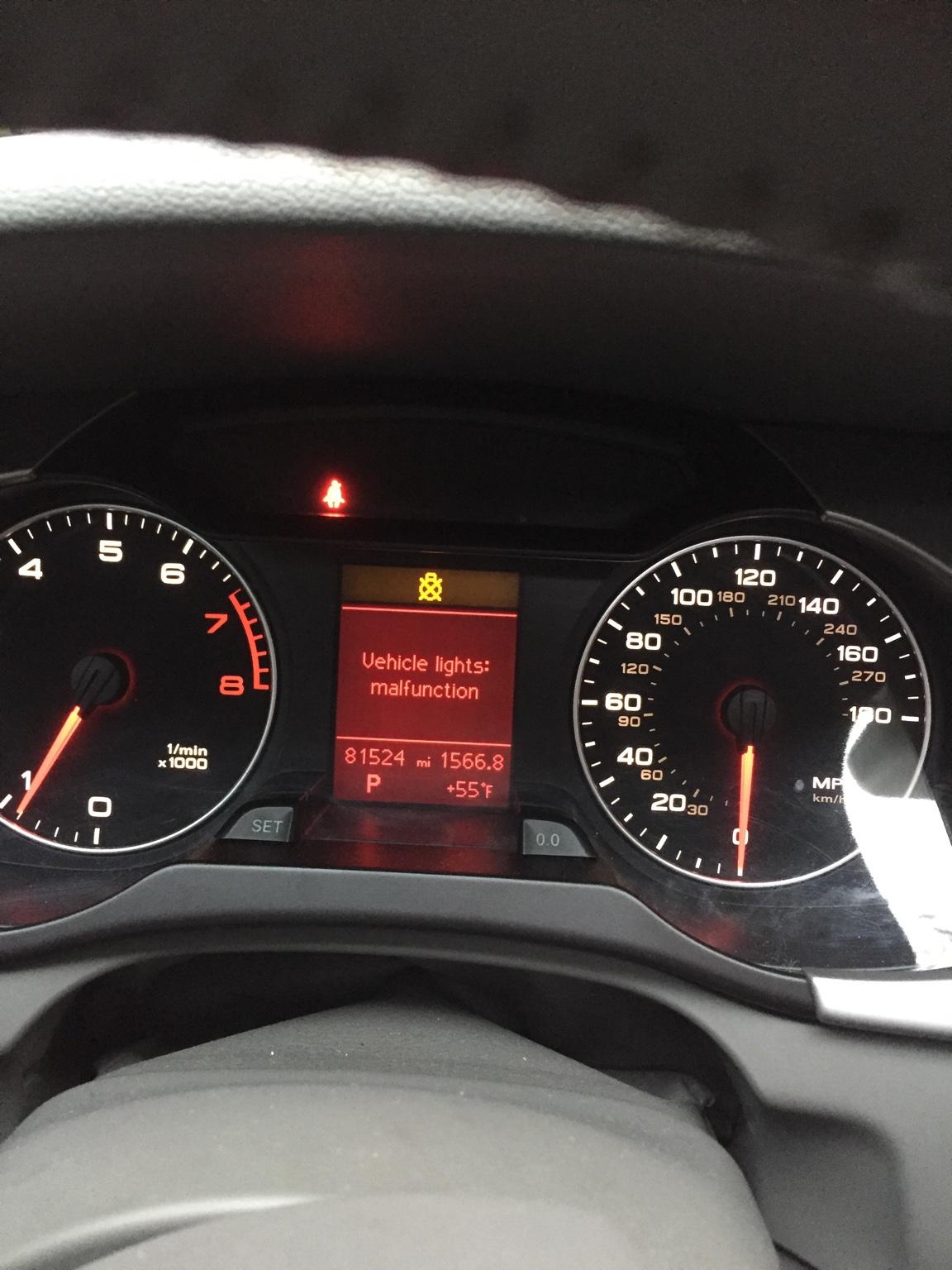 vehicle lights malfunction audi a4 | Adiklight co