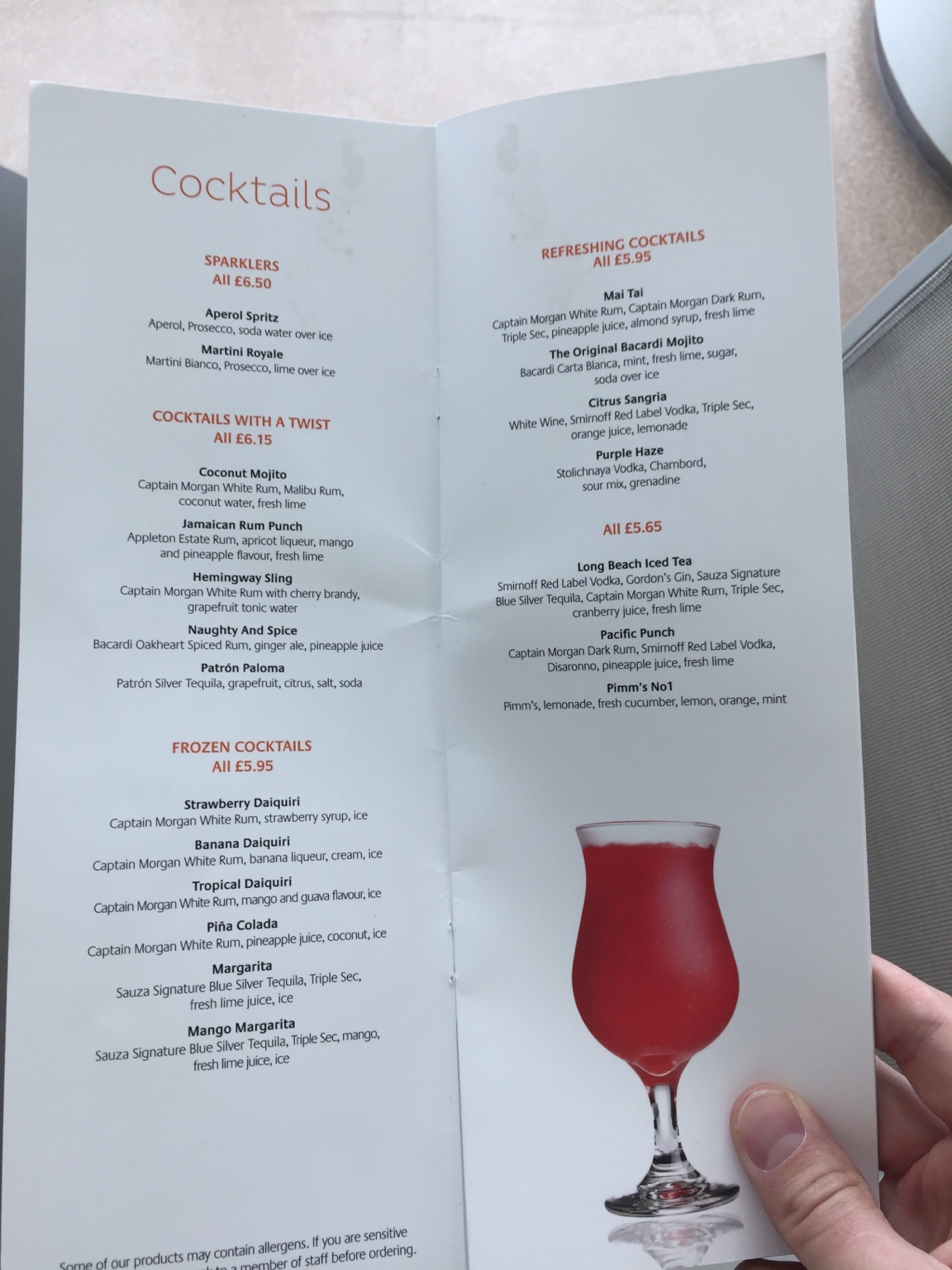 Drinks And Bar Prices On P And O Britannia Cruise Critic