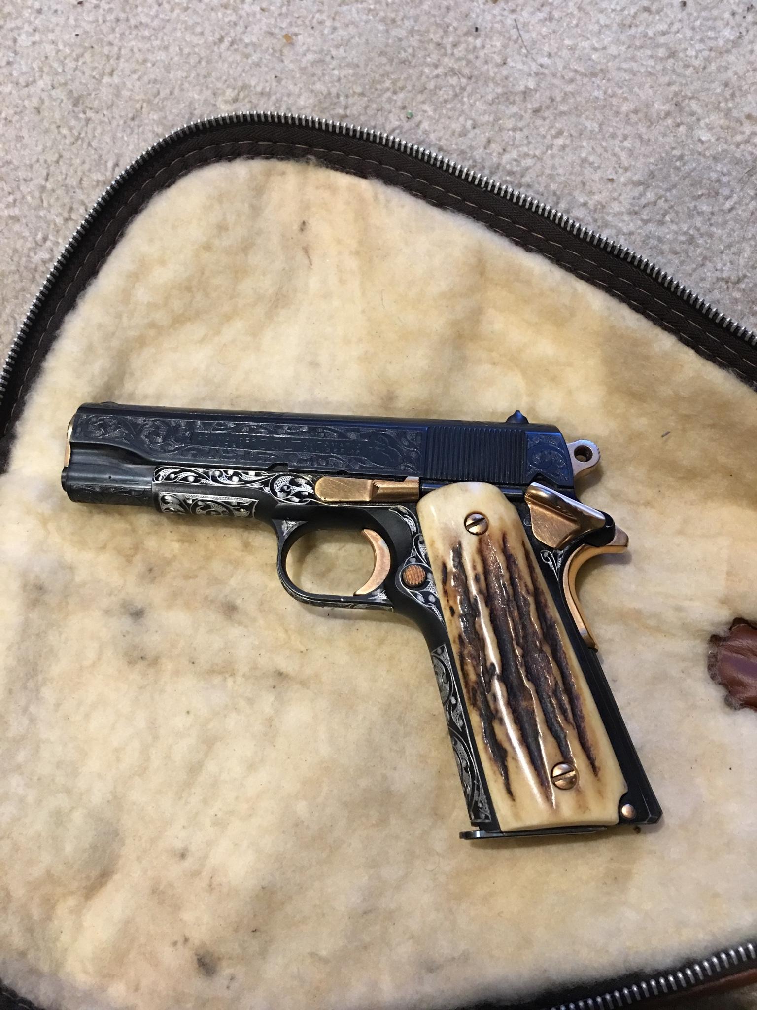 WTS: Engraved Colt Commander 1911 $1200