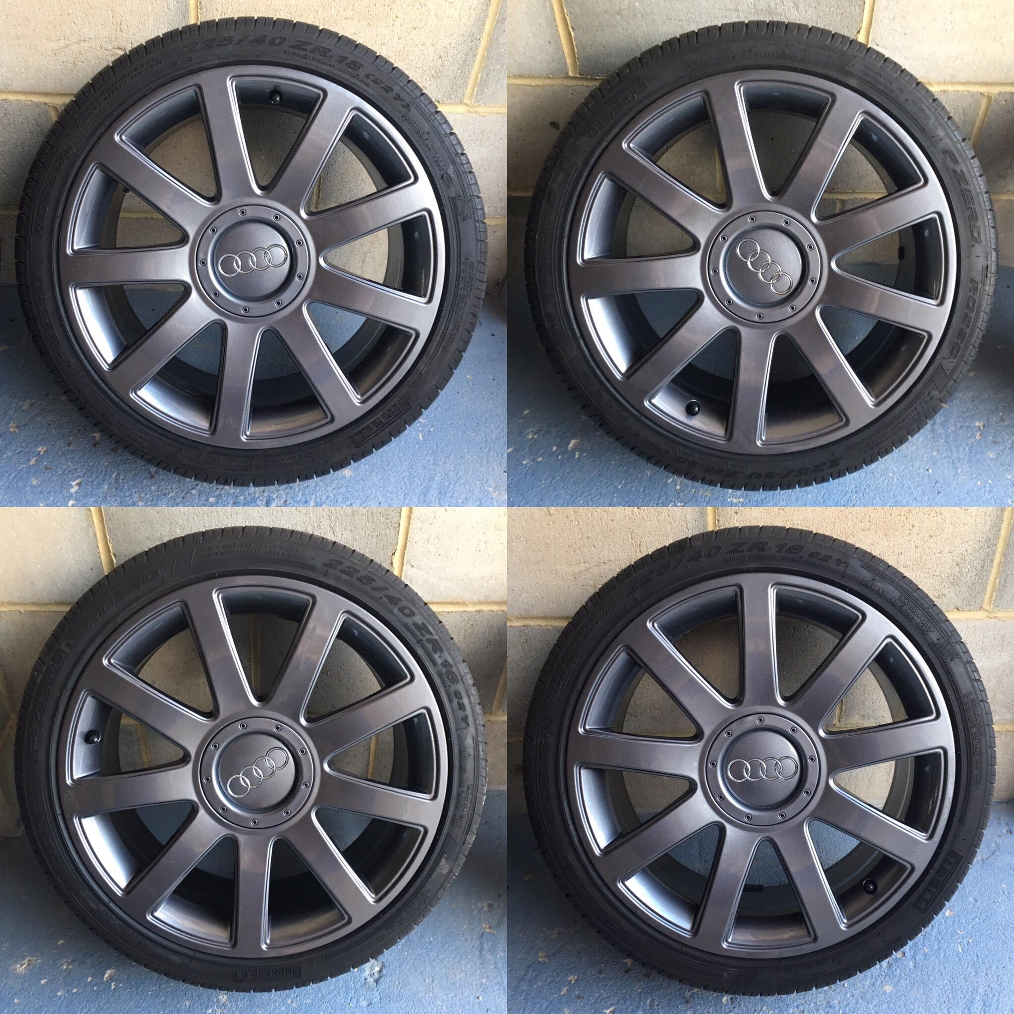 "Genuine 5x100 18"" Audi RS4 TT Mk1 Alloy Wheels"
