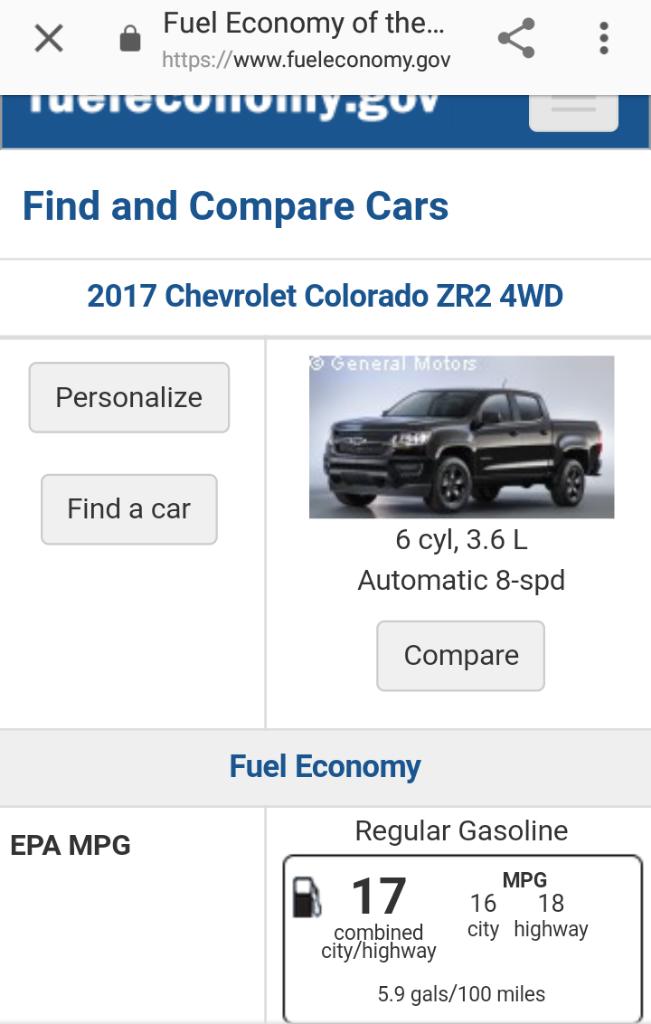 Zr2 V6 Gas Mileage Page 3 Chevy Colorado Gmc Canyon