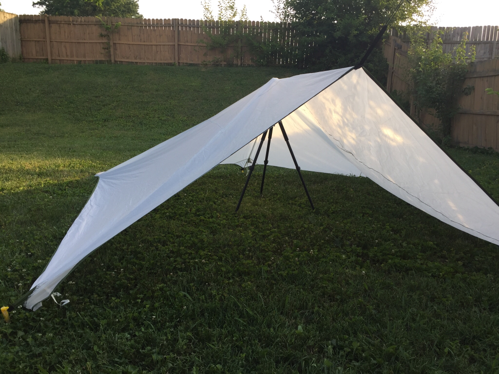 Hammock Rain Fly Used As Glassing Emergency Shelter