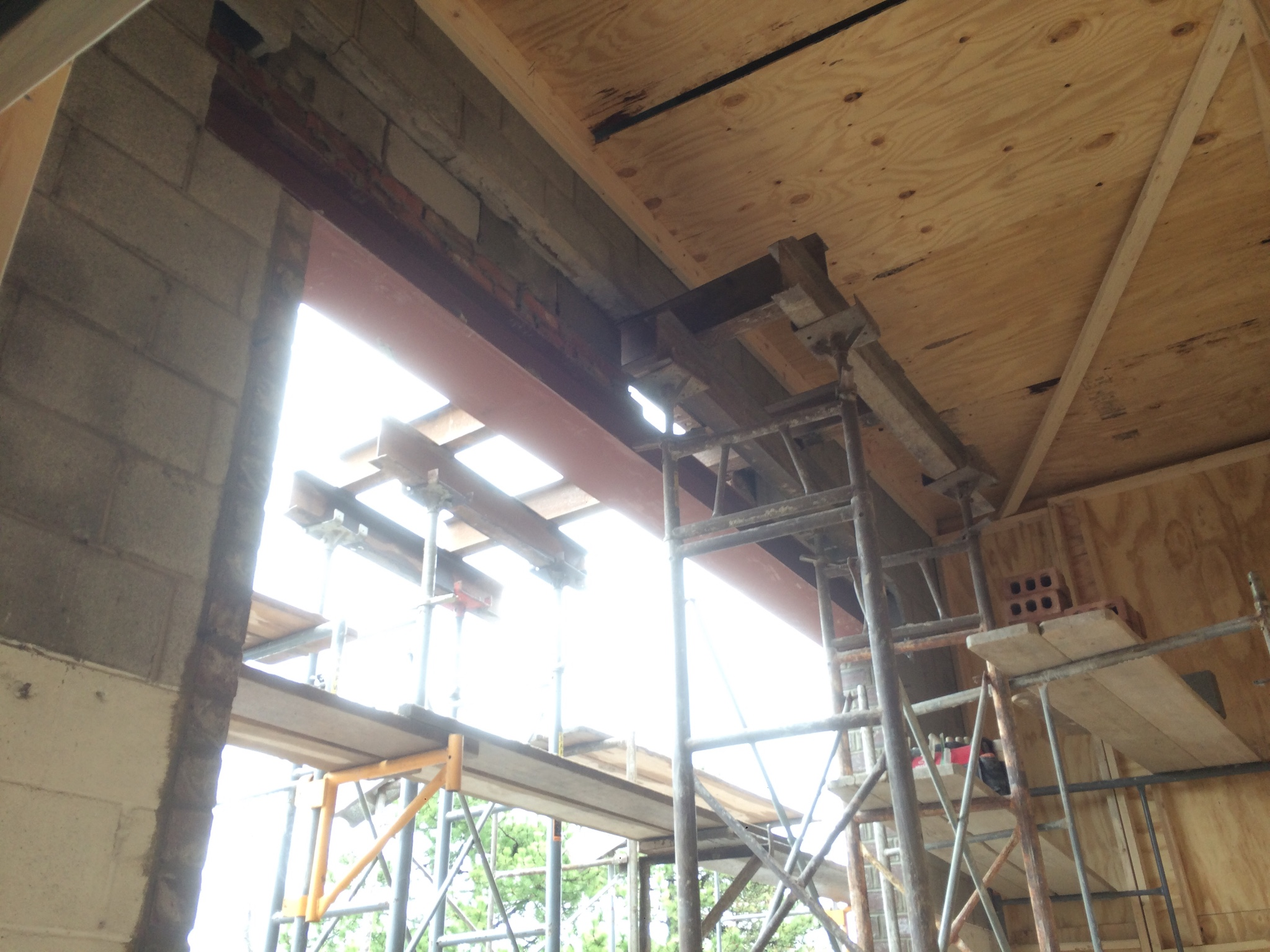 Changing Out Existing Garage Door Lintel In Natural Stone