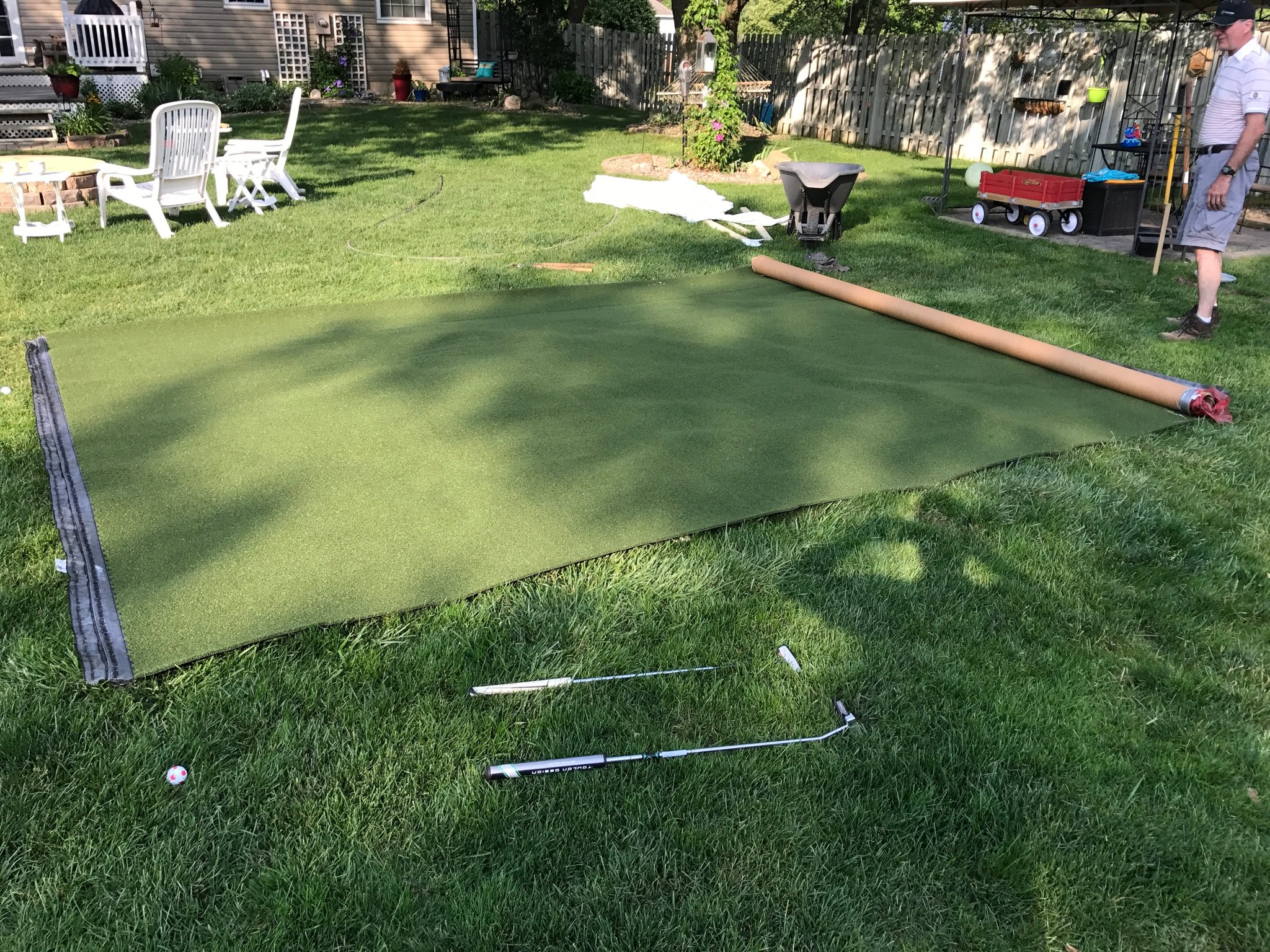 My DIY backyard putting green