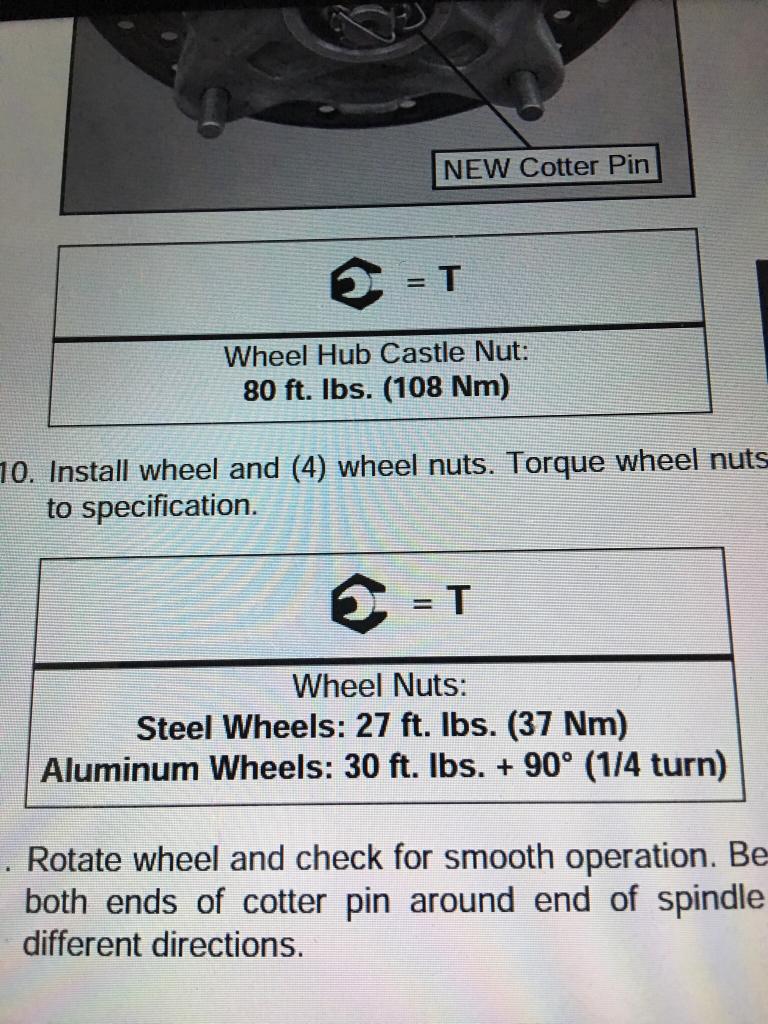 torque setting for axle nut and lugs? - Polaris RZR Forum