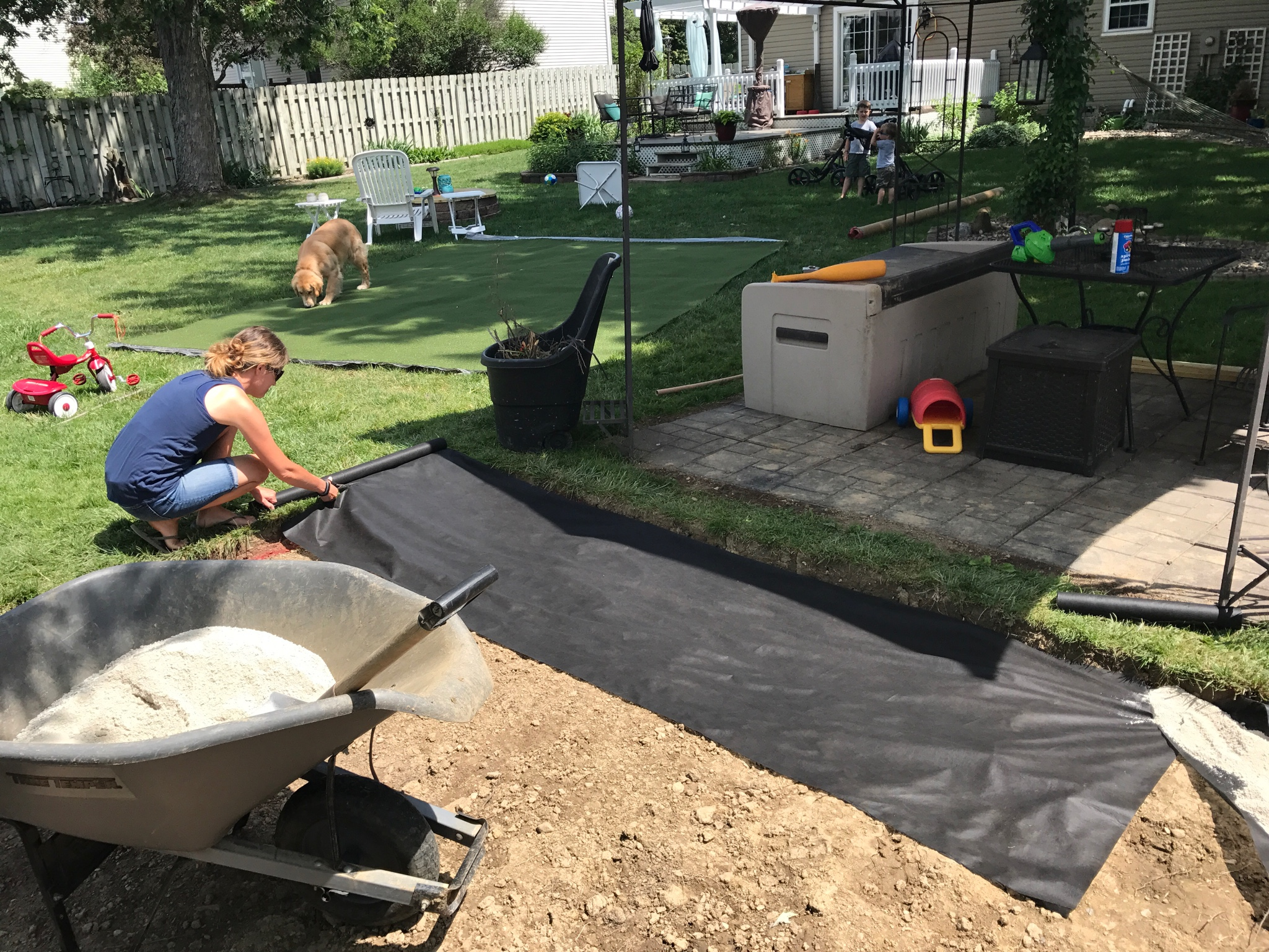 my diy backyard putting green page 4