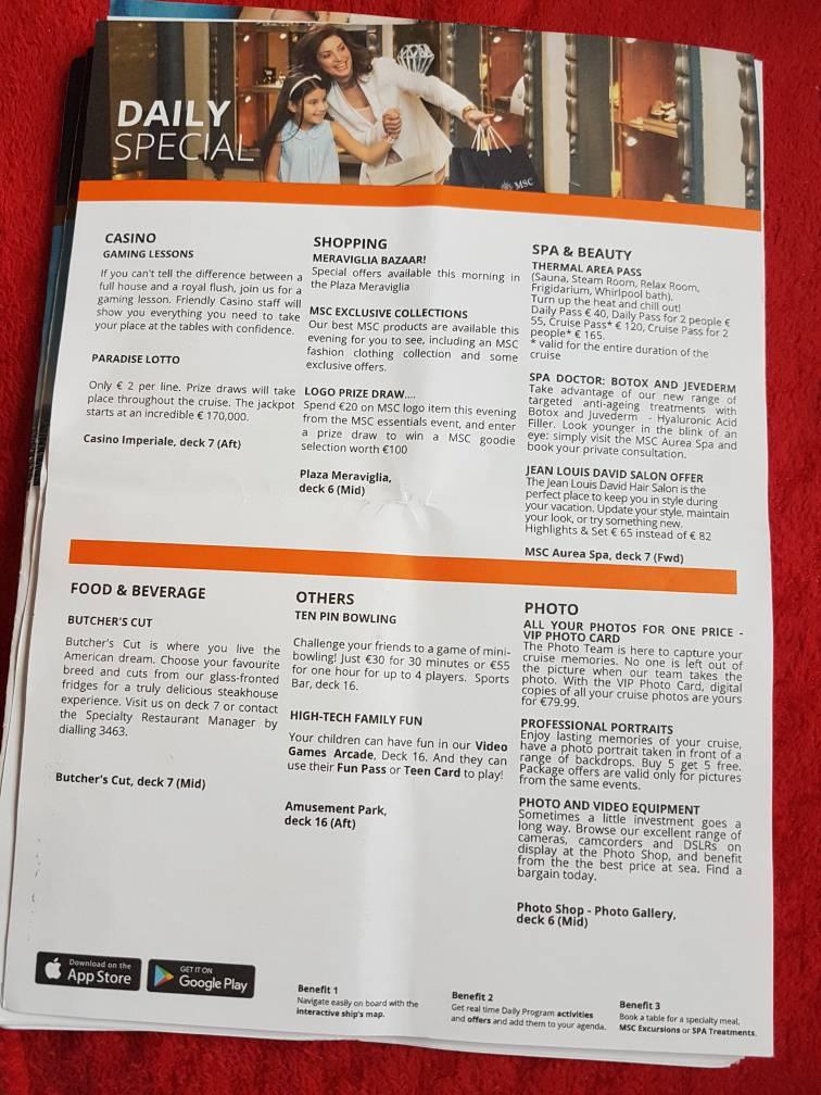 msc meraviglia deck plan pdf