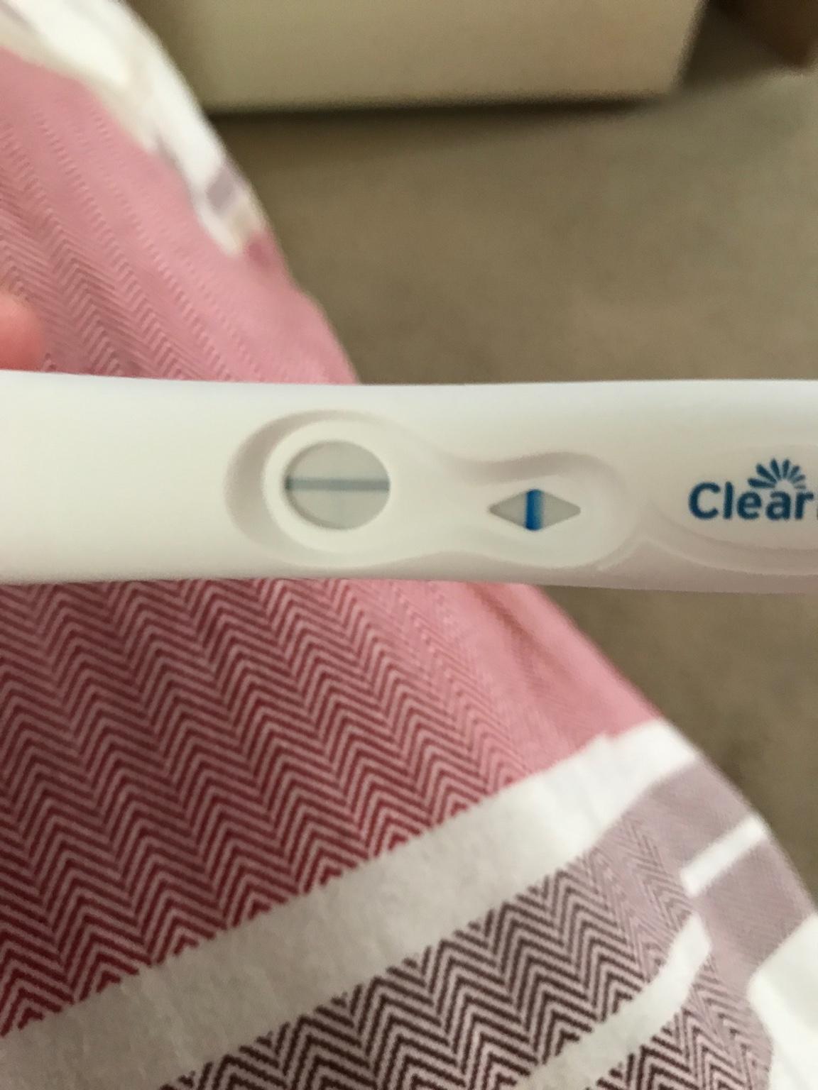 Very very faint line on clear blue test am i pregnant netmums can anyone see a faint line biocorpaavc Choice Image