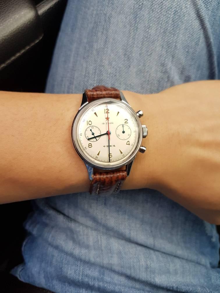 35ecea8b540 Aqui no meu pulso vai de 36-44mm de case consigo usar tranquilo. Depende  muito da distância de lug para lug. Hj até com o meu menor relógio Seagull  1963 em ...
