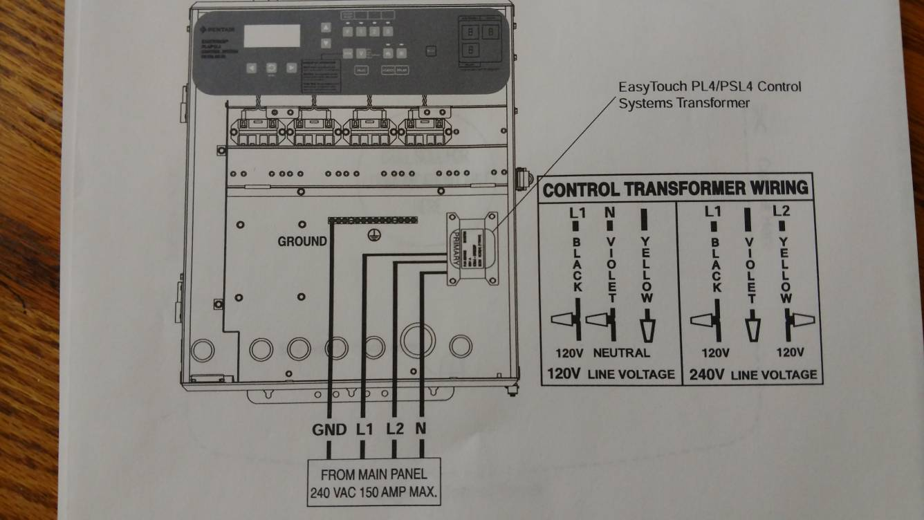 Pool Control Wiring Diagram Free For You Requirements A Hot Tub Need Help With Installing Pentair Pl4 Controller Motor