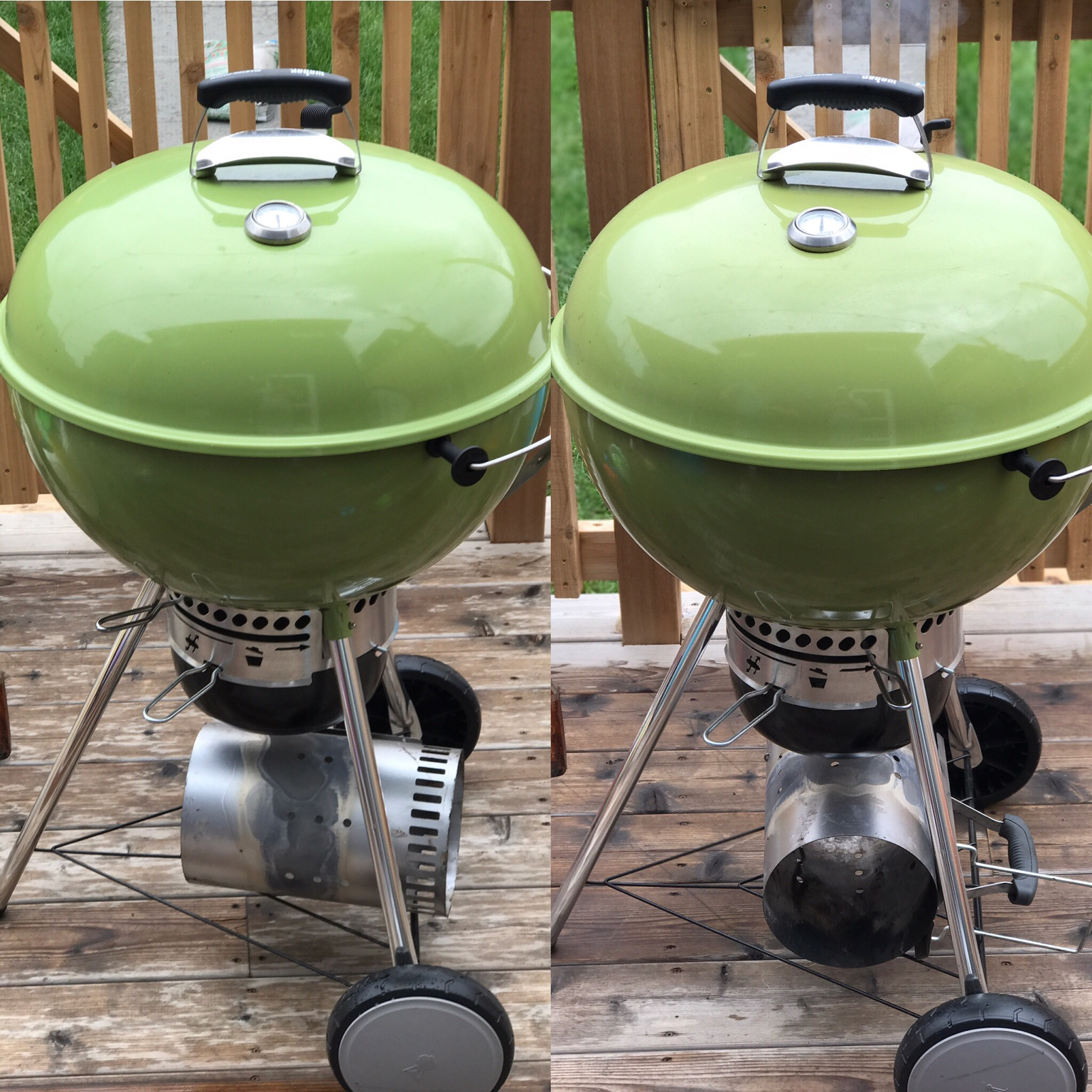 new spring green kettle: cold vs hot color change