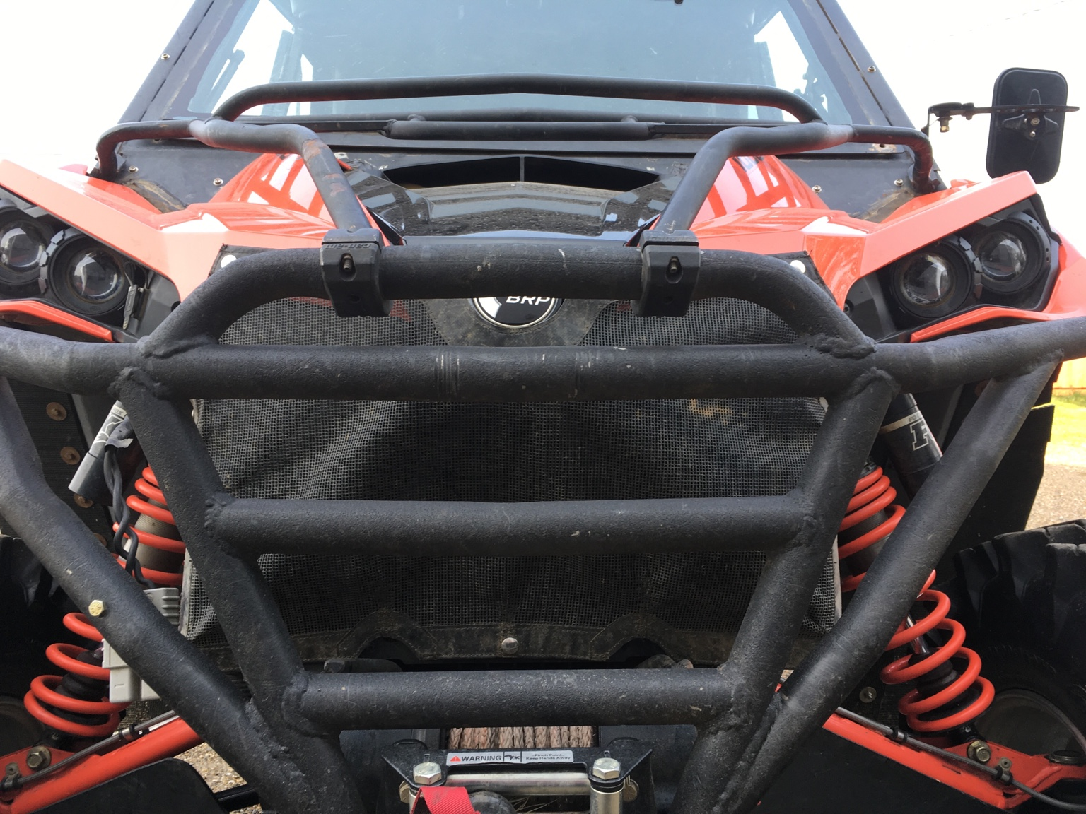 Radiator Guard For Grass Seed Can Am Commander Forum