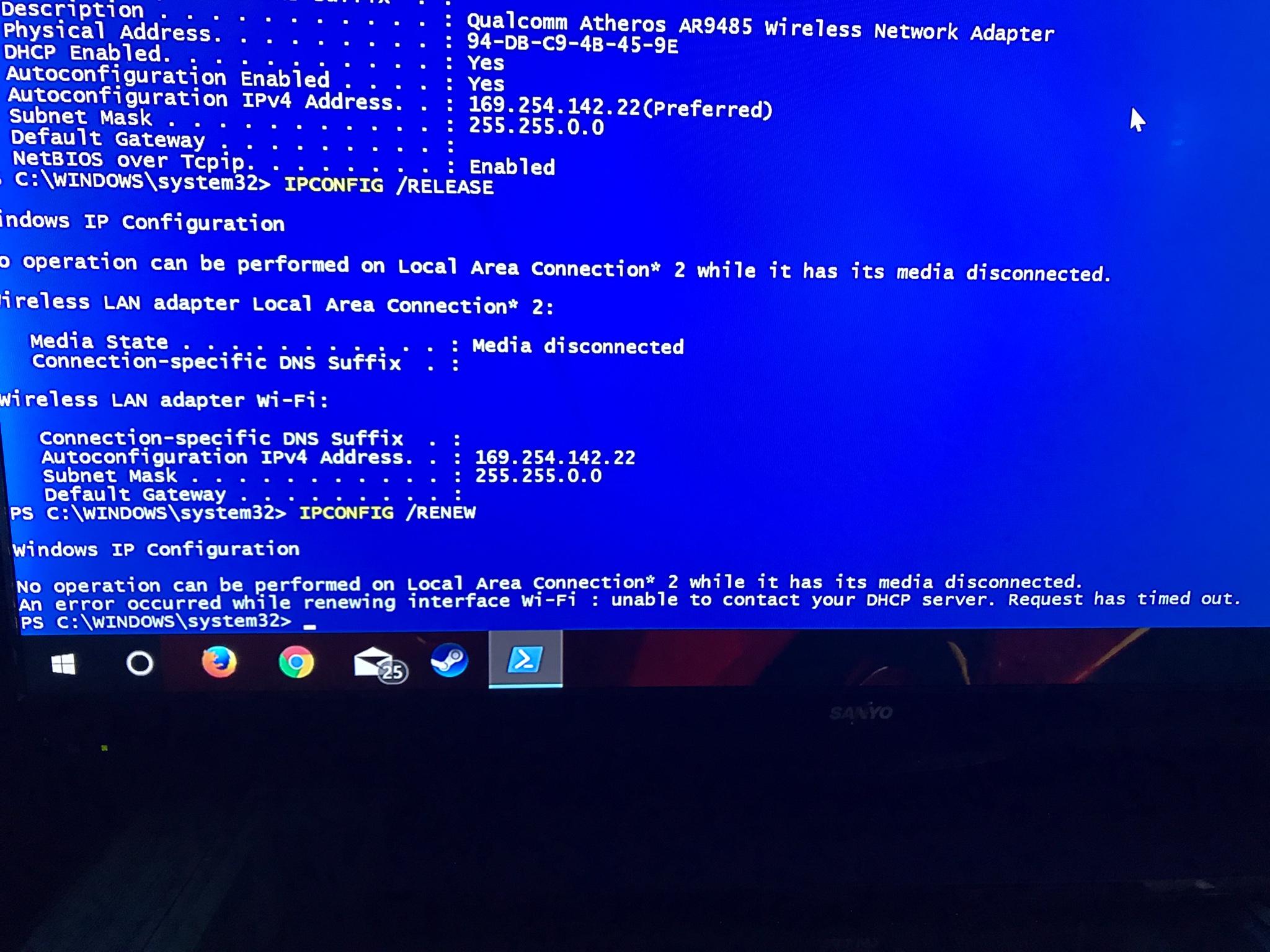 Default gateway going blank intermittently - The Cloud (Internet