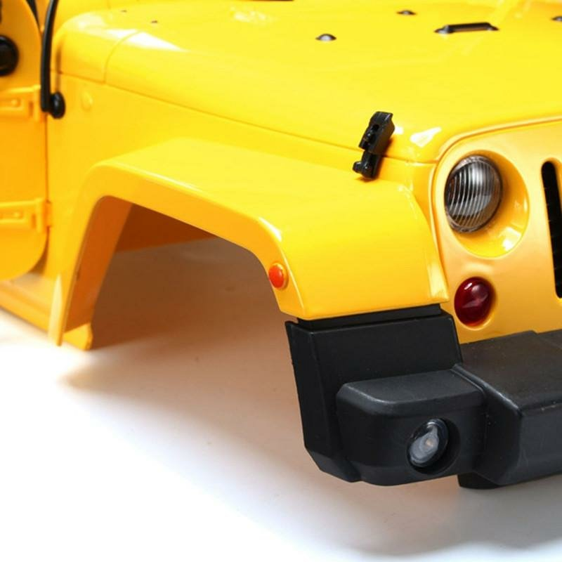 1 10 Rc Truck Hard Body Shell Canopy Rubicon Topless For: ProLine Jeep Wrangler Rubicon Clear Body With Interior