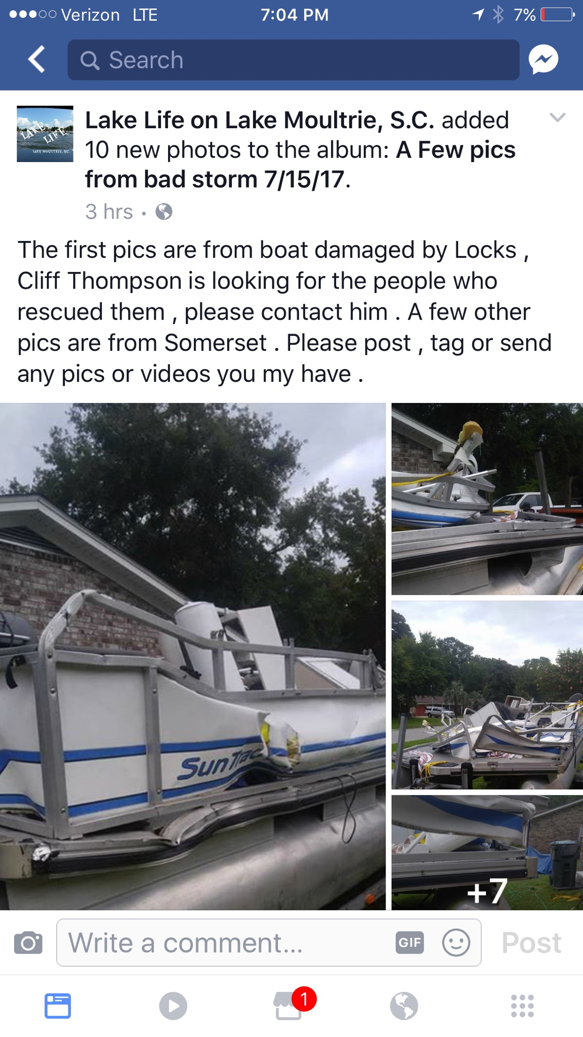 Boating accident at locks?