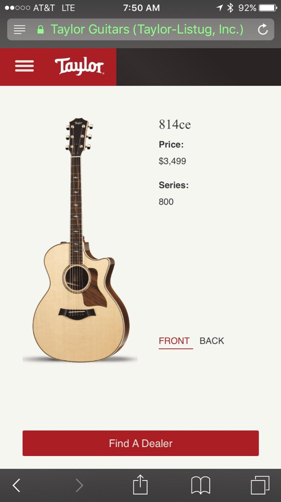 Taylor Guitars For Sale >> Price Change On Taylor S Website The Acoustic Guitar Forum