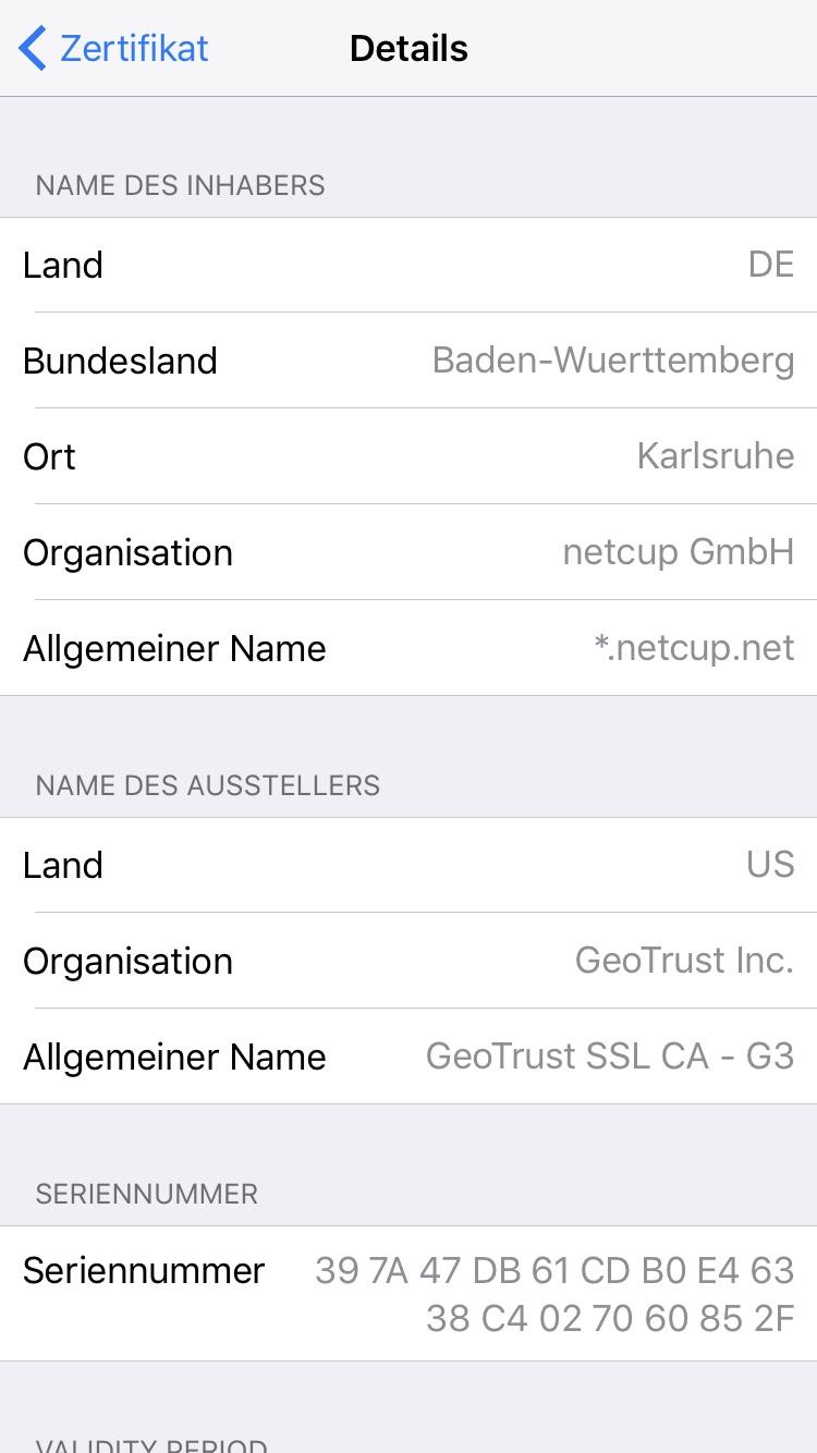 Ios 10 Email Zertifikat Vertrauen Nicht Möglich Apfeltalk