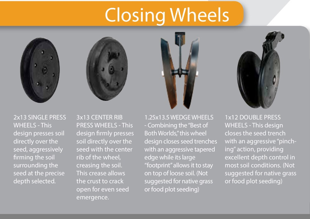 Closing Wheel Options For Great Plains Drill Deer Hunter Forum