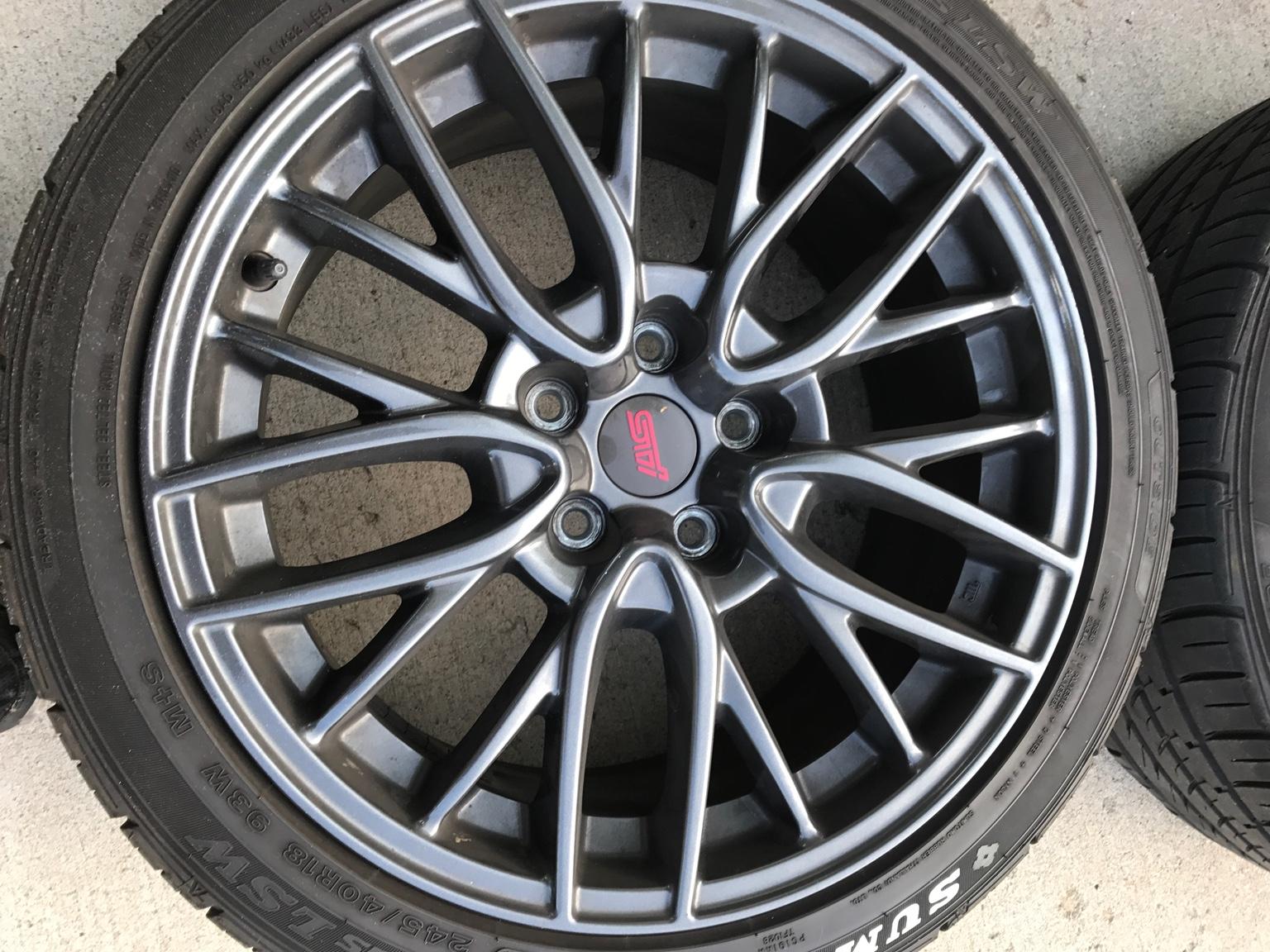 fs for sale 2016 sti enkei wheels and tires nasioc. Black Bedroom Furniture Sets. Home Design Ideas