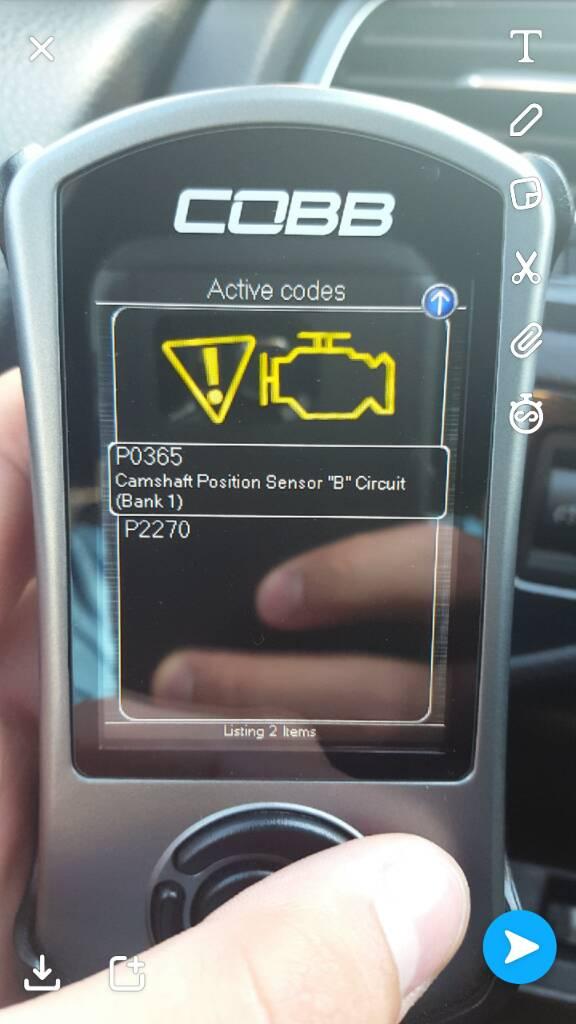 2015 GTI P0365 Camshaft Position Sensor CEL - GOLFMK7 - VW