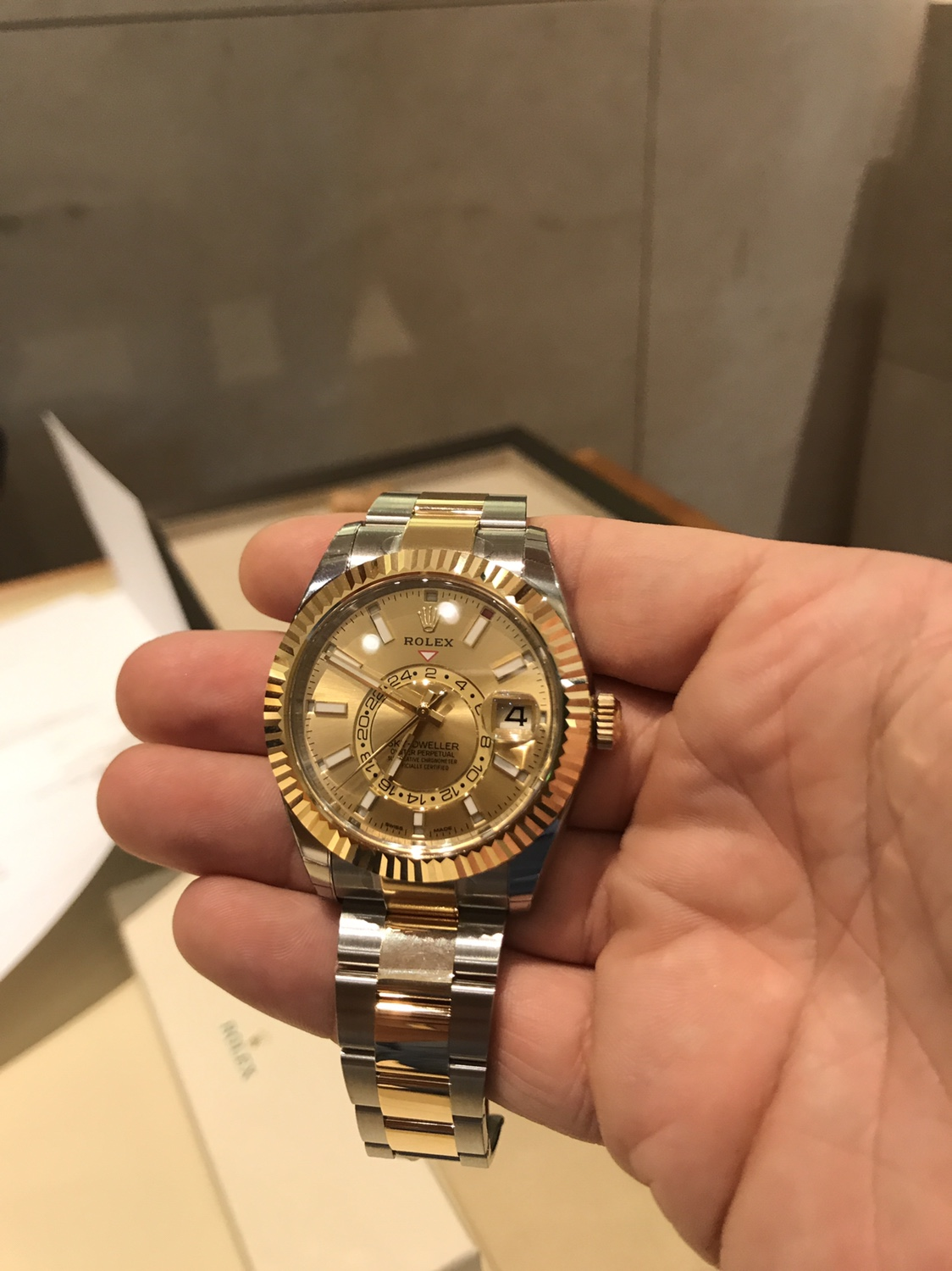Two Tone Sky Dweller has landed! , Rolex Forums , Rolex