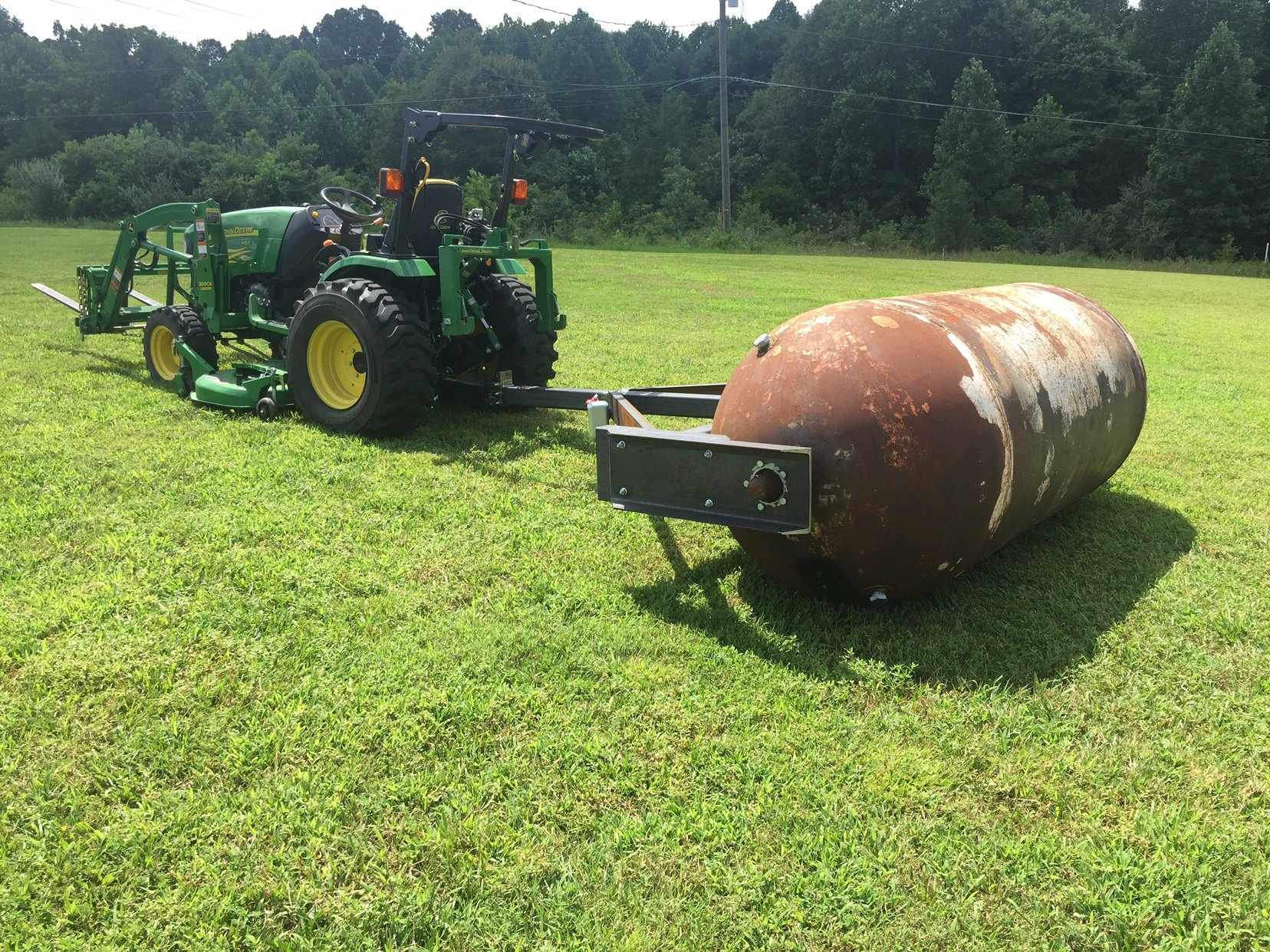 how to build a lawn roller