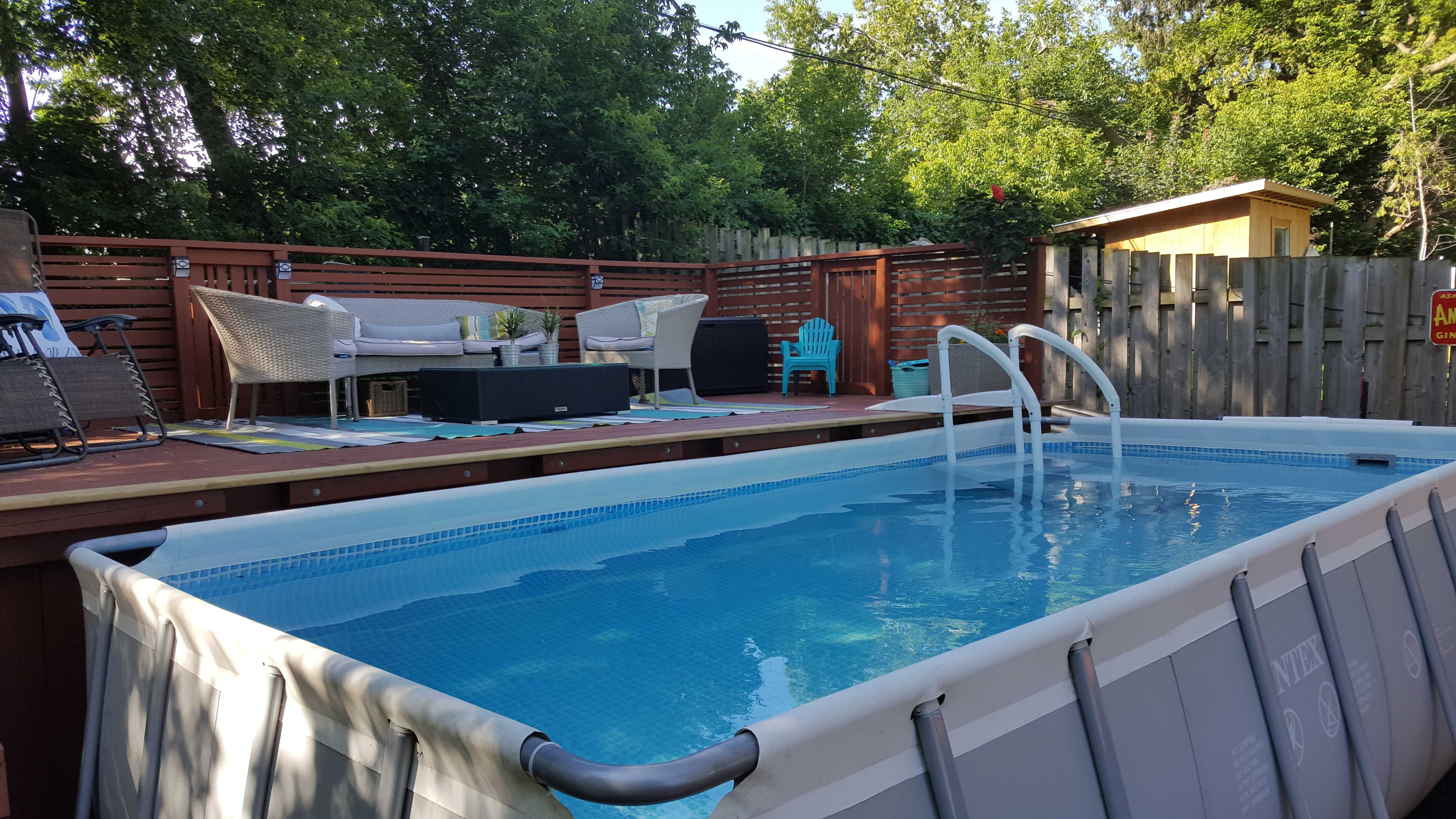 Deep Backyard Pool rectangular intex pool deep end
