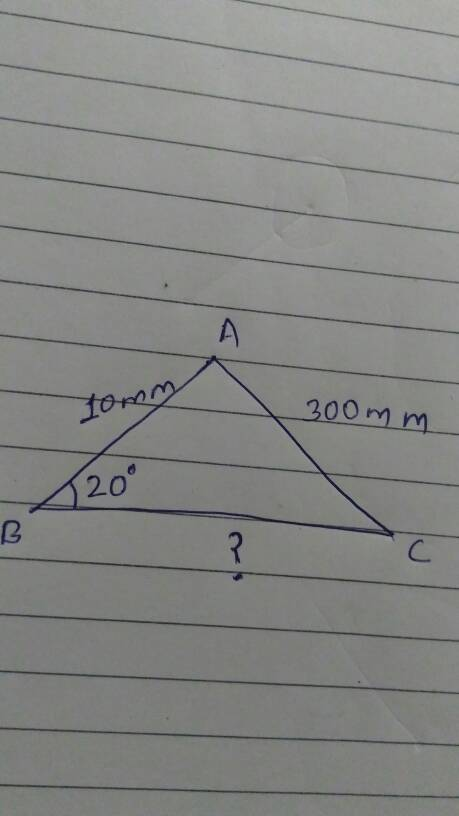 To find third side of a triangle, given angle, then side ...