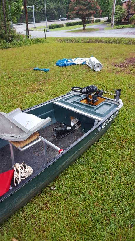 Coleman Crawdad and foot controlled trolling motor