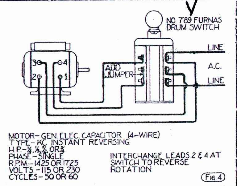 help wiring ge motor to furnas forward reverse switch rh practicalmachinist com Furnas Switch Wiring Diagram to InSinkErator 2-Way Switch Wiring Diagram