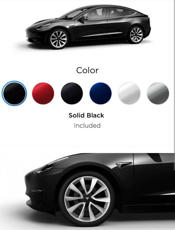 forum automobile propre les couleurs et jantes du configurateur officiel tesla model 3. Black Bedroom Furniture Sets. Home Design Ideas