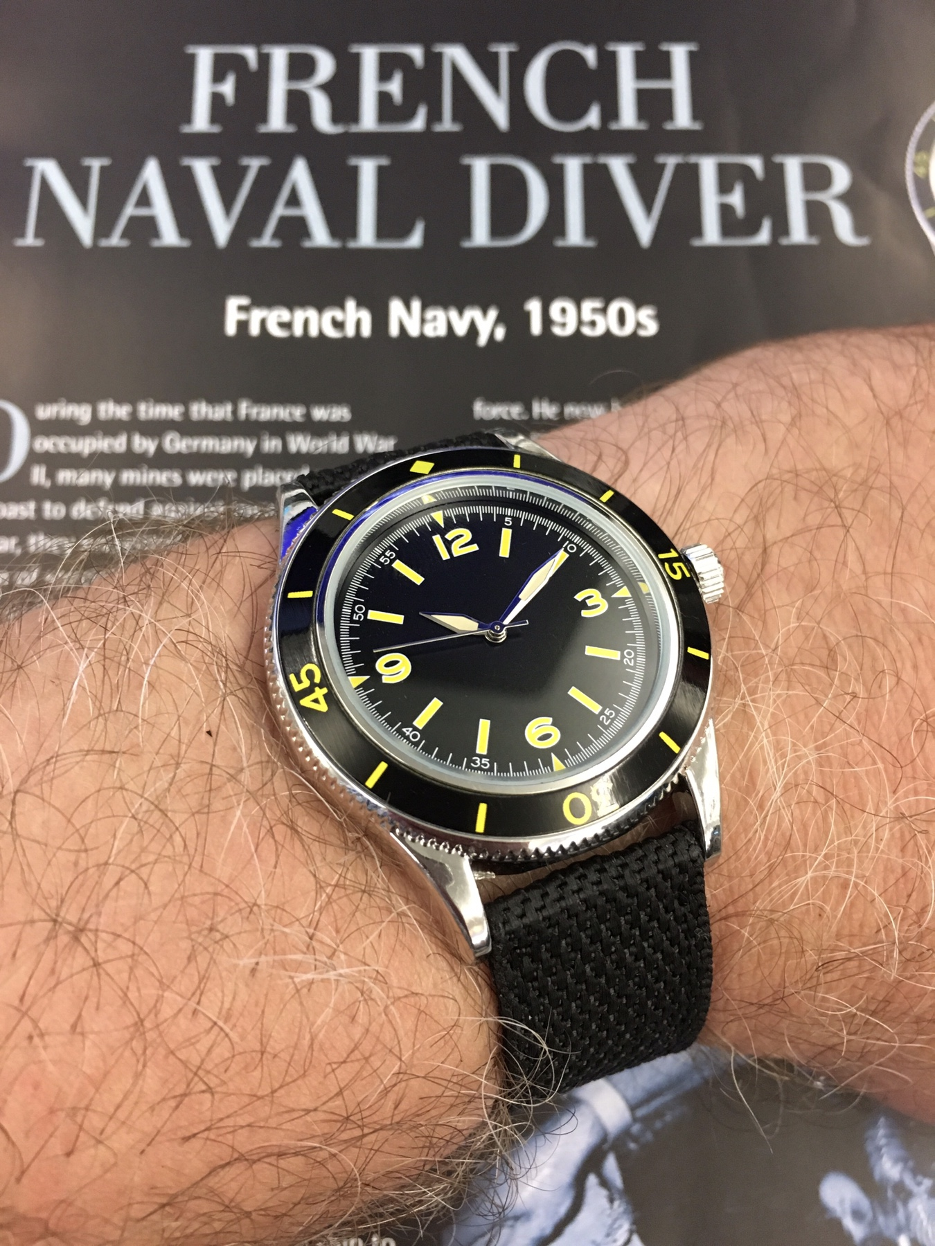 watches mm navy hour sale vmf info dial leather shop naval automatic black with watch russian