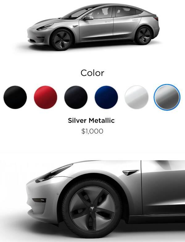 les couleurs et jantes du configurateur officiel tesla model 3 forum automobile propre. Black Bedroom Furniture Sets. Home Design Ideas