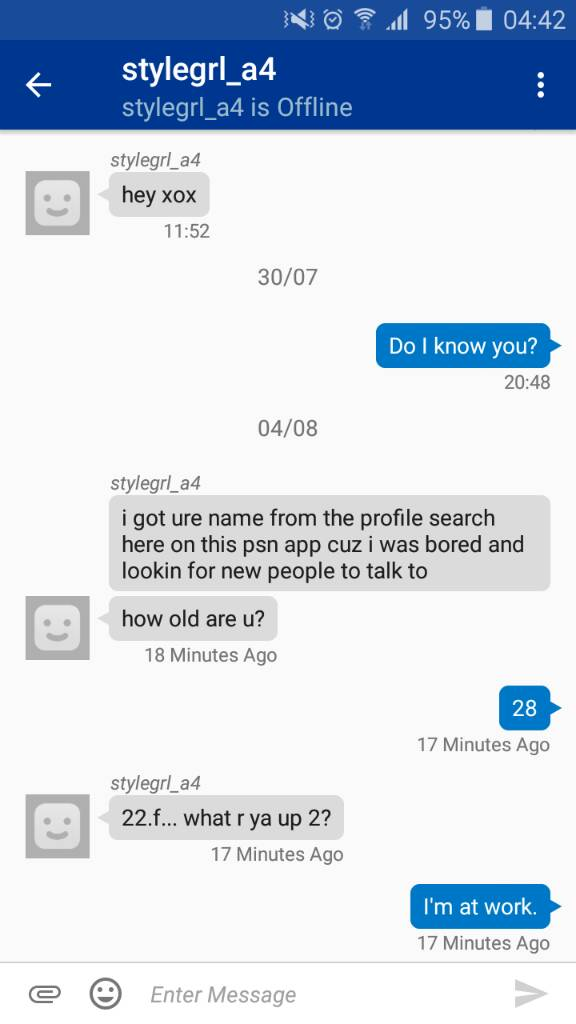A cam whore invited me to her showing on my psn profile    IGN Boards