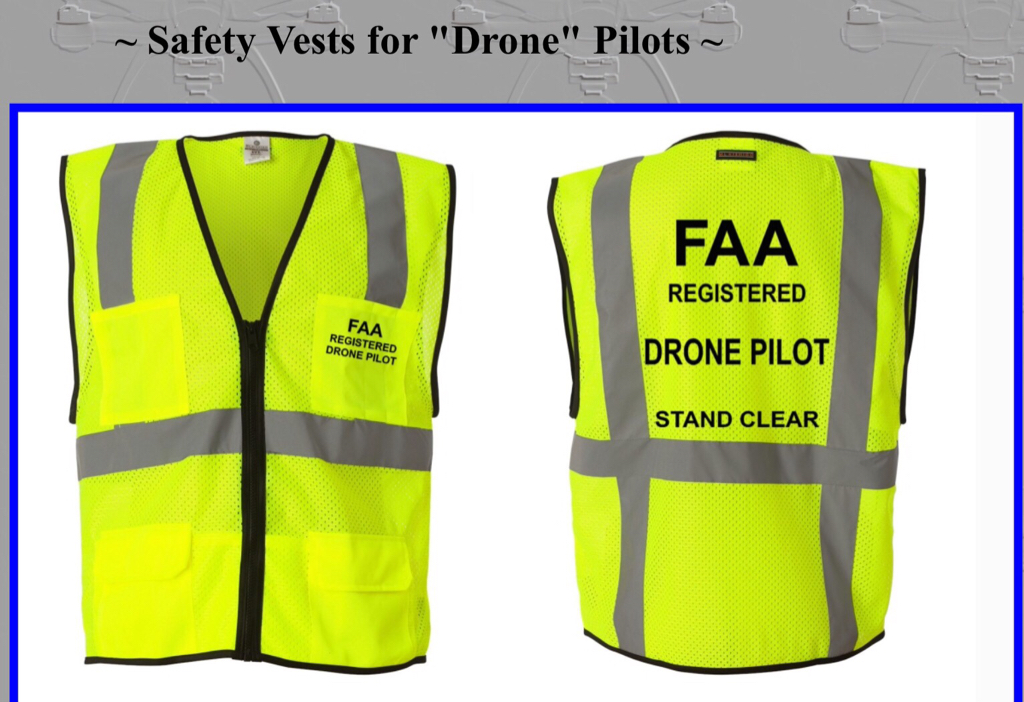Drone Registered Pilot CAA Printed Orange Hi-Vis Safety Vest Tabard Hi Viz Waistcoat