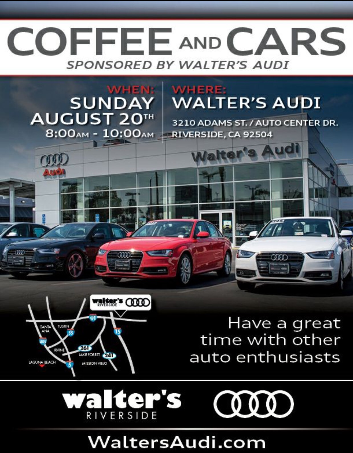 Cars And Coffee At Walters Audi Riverside - Walter audi