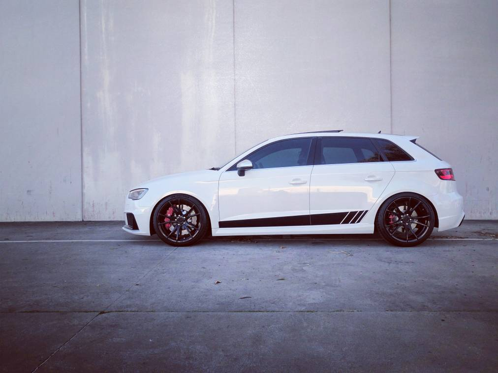 Audi A3 (RS3 19 Alloys & Lowering