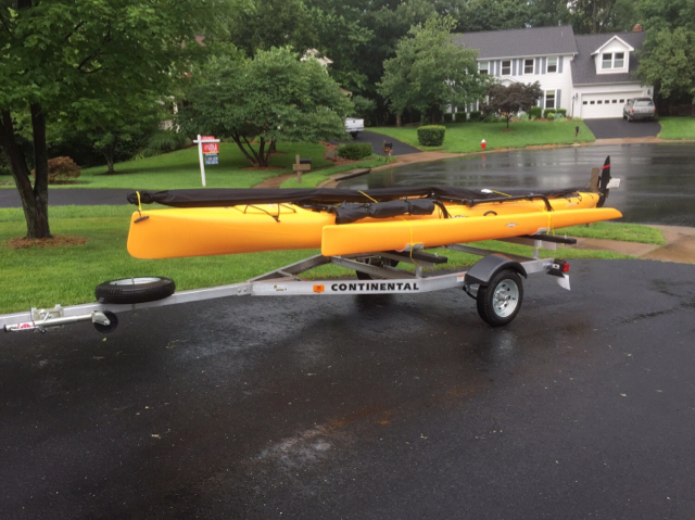 Hobie Forums • View topic - Submersible trailer for two kayaks