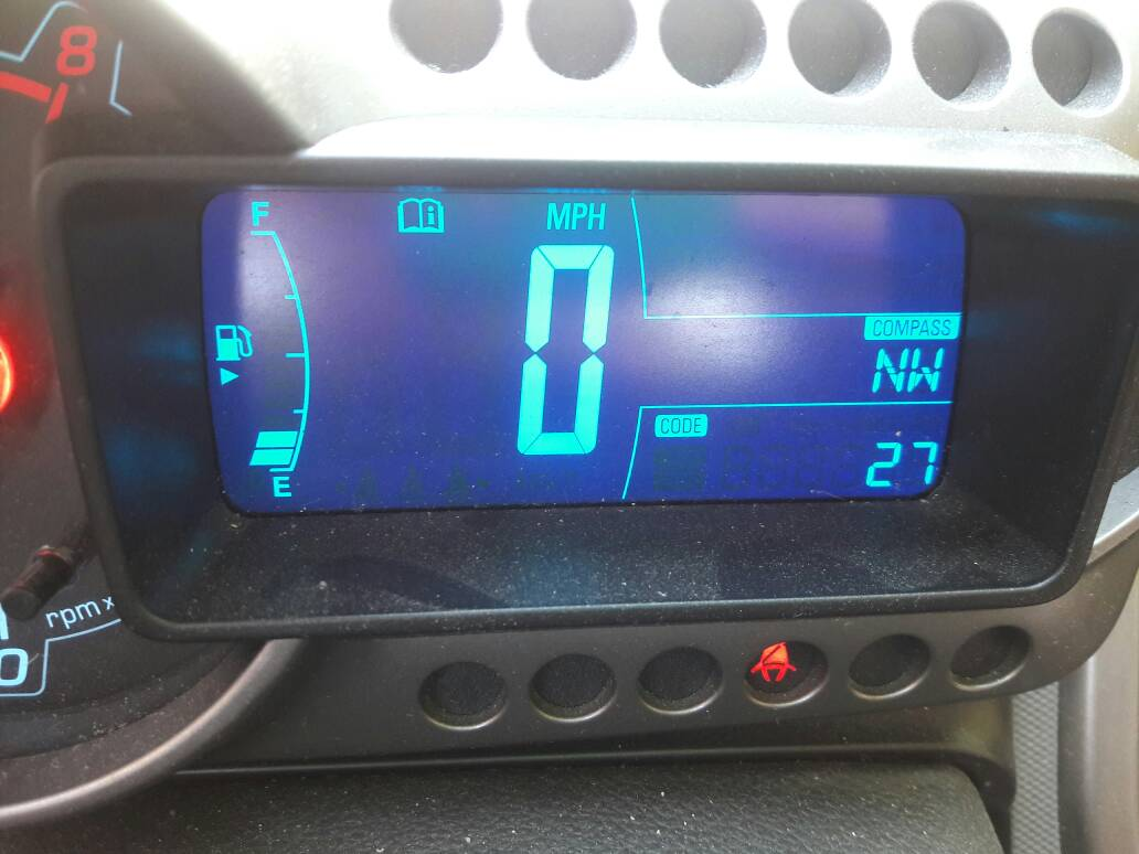 Error codes on dash where odometer usually is - Chevy Sonic Owners Forum