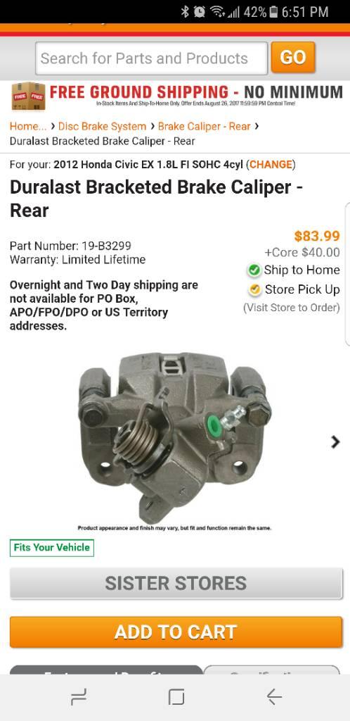 2012 Honda Civic EX Brake Caliper Leak?