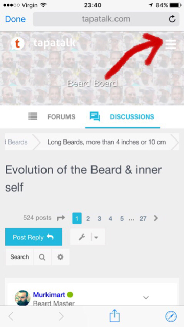 TAPATALK APP ~ How to guide ~ Q&A - Beard Board