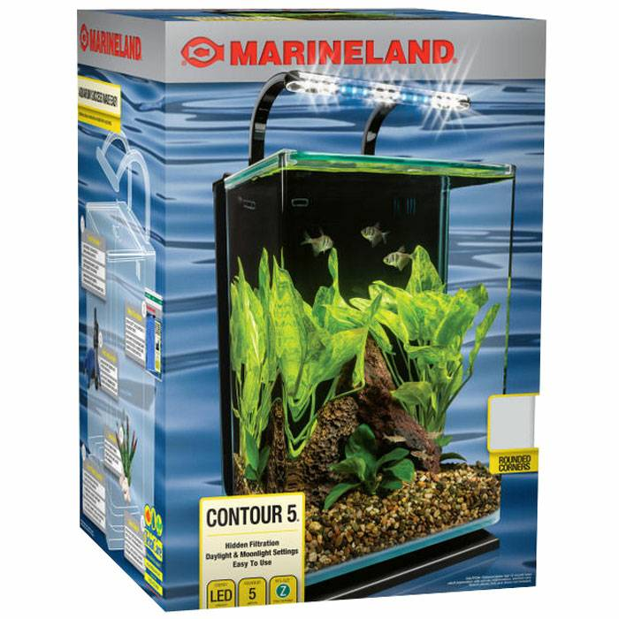 Marineland Contour 5 Gallon Desktop AIO aquarium kit - Manhattan Reefs