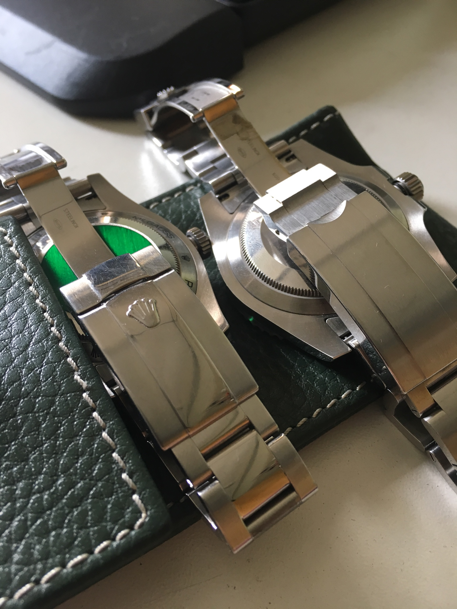 Another Look On The Bracelet Thought I Can Do A Comparison With My Authentic Submariner But They Are Diffe Anyway Milgauss Is