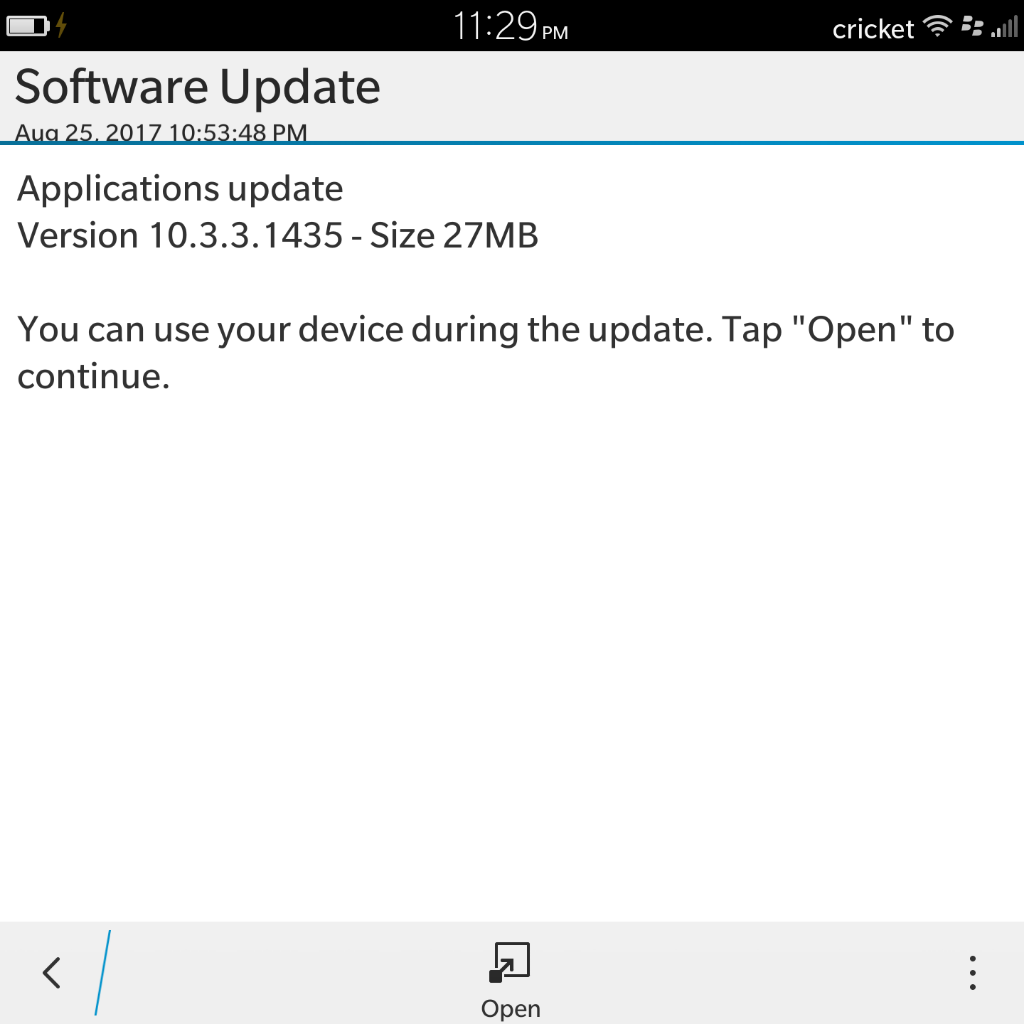 Update, is this just trying to update my FB fix? - BlackBerry Forums