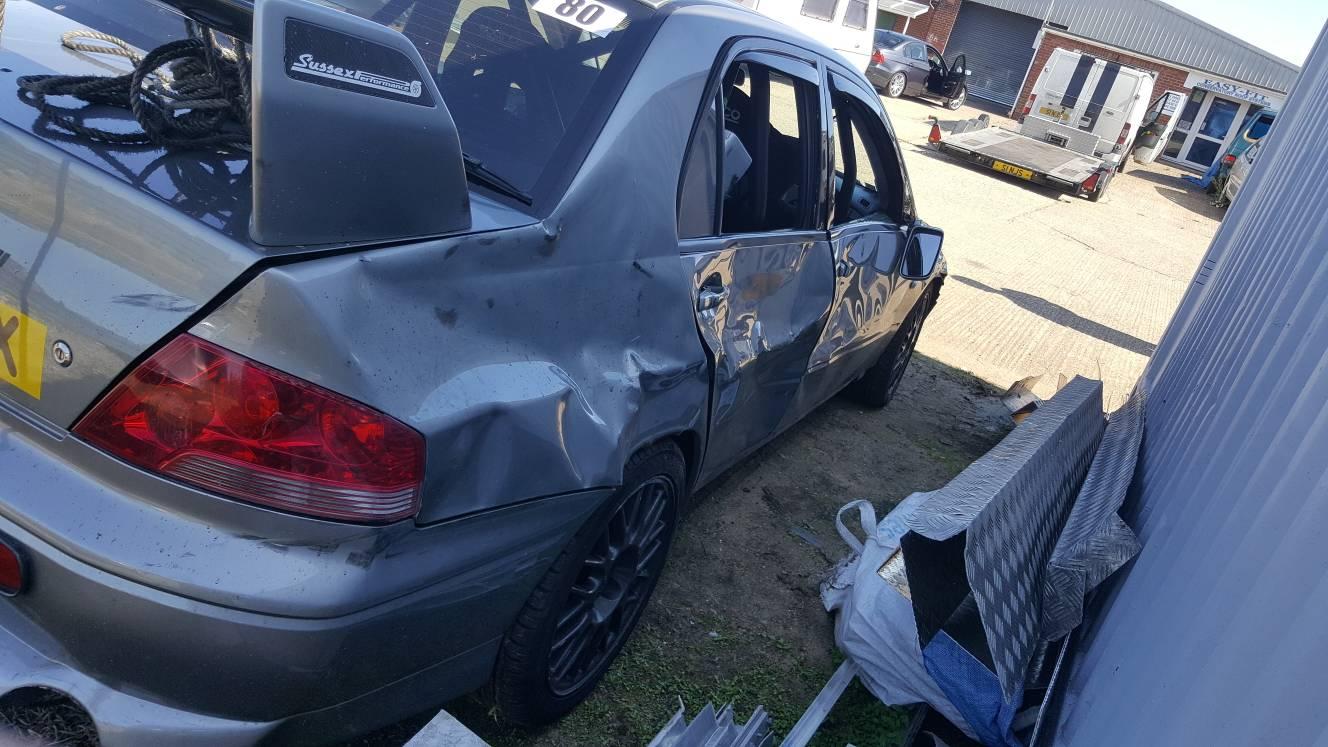 Evo 7 smashed by partner uncle HELP - Mitsubishi Lancer Register Forum